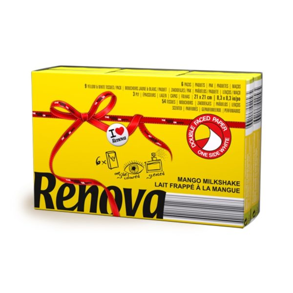 Pocket tissues Renova Red Label Yellow-min