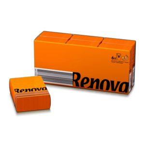 Платочки бумажные цветные Renova Orange