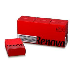Платочки бумажные цветные Renova Red
