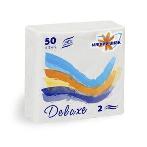 Салфетки бумажные Мягкий знак Deluxe 50 л. (С49)
