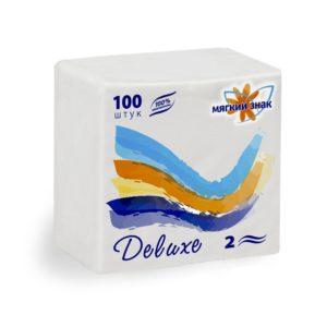 Салфетки бумажные Мягкий знак Deluxe 100 л. (С50)