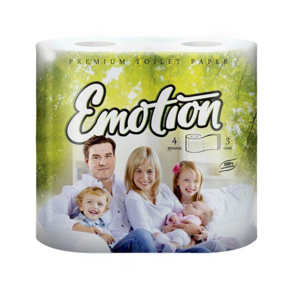 Туалетная бумага Мягкий знак Emotion 4 рулона 3-х-слойная (С53)