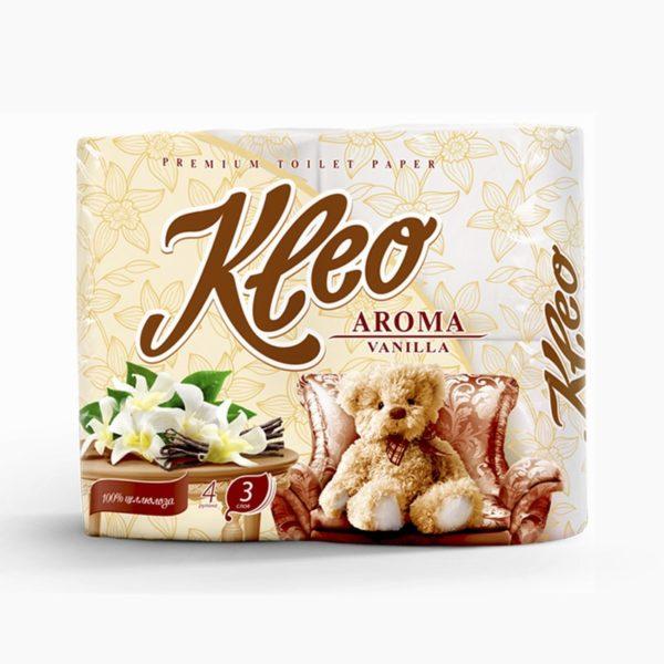 Туалетная бумага Kleo Aroma Ваниль 3-х-слойная 4 рулона (С87)