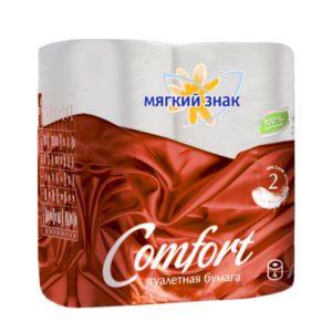 Туалетная бумага Мягкий знак Comfort 4 рулона (С90)