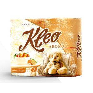Туалетная бумага Kleo Aroma Мандарин 3-х-слойная 4 рулона (С98)