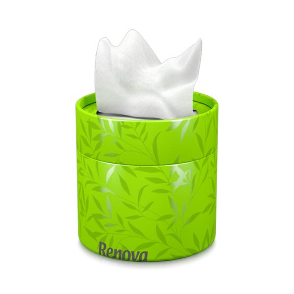 white-facial-tissues-green-box