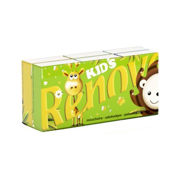 Детские бумажные платочки Renova kids