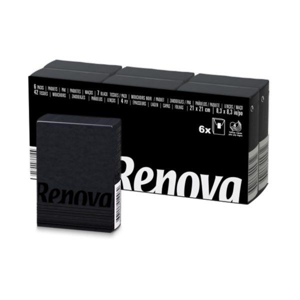 Черные бумажные платочки Renova Black