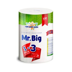 Полотенца бумажные Мягкий знак Mr. Big 3 рулона в 1 (С5)