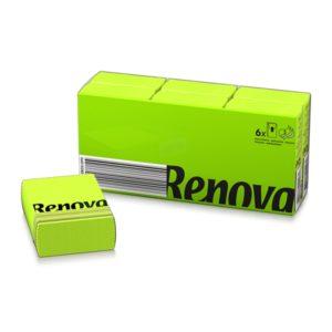 Платочки бумажные цветные Renova Green