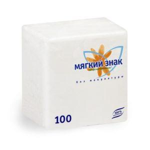 Салфетки бумажные Мягкий знак 100 л. (С4)