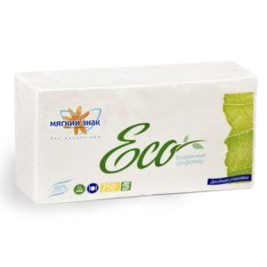 Салфетки бумажные Мягкий знак Eco 250 л. (С58)