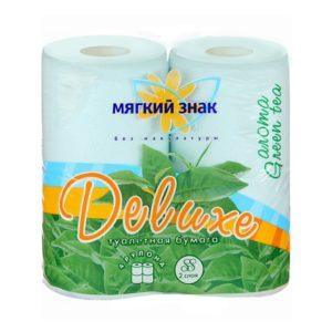 Туалетная бумага Мягкий знак Deluxe Aroma Зеленый чай 4 рулона (С18)
