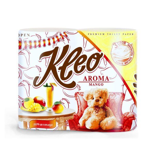 Туалетная бумага Kleo Aroma Манго 3-х-слойная 4 рулона (С37)