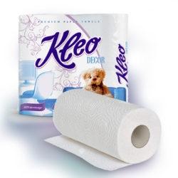 Бумажные полотенца Клео в ассортименте