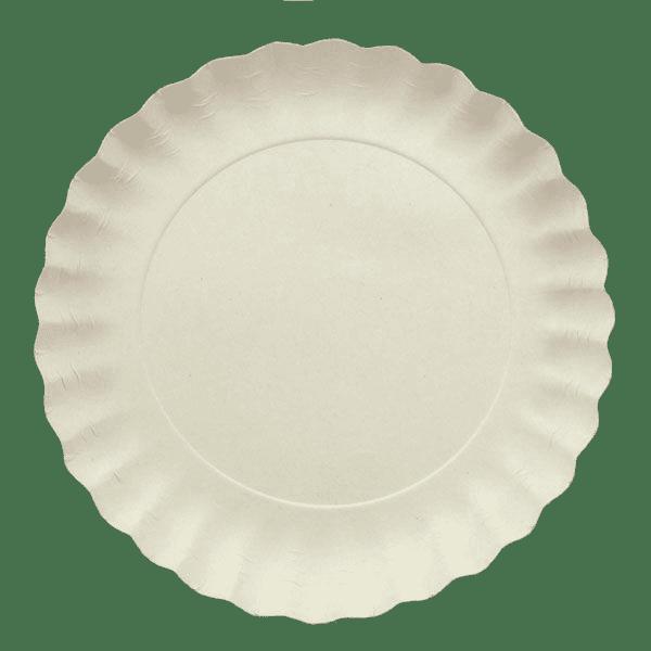 тарелка белая flower