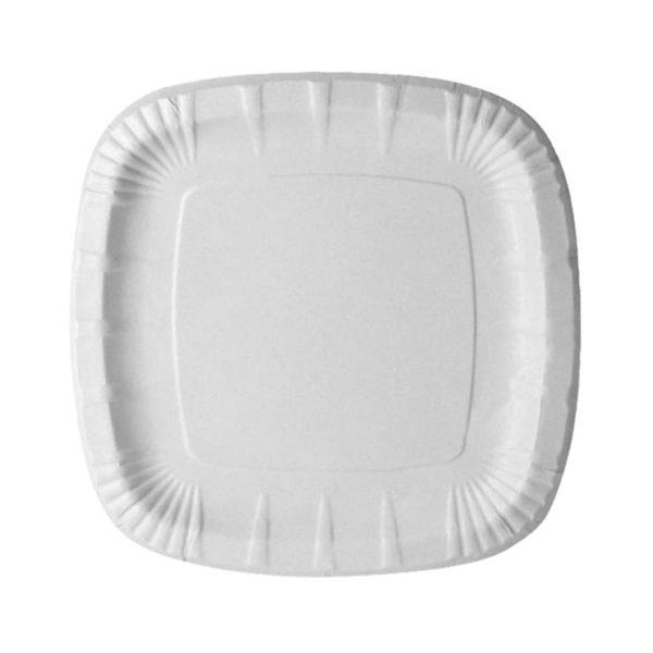 тарелка бумажная квадратная 200мм